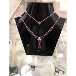 ketting met rode diamantjes